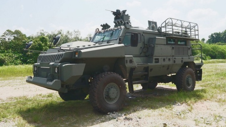 The Singapore Army is set to boost its battlefield logistics operations with the 4x4 Paramount Marauder protected vehicle. Source: MINDEF