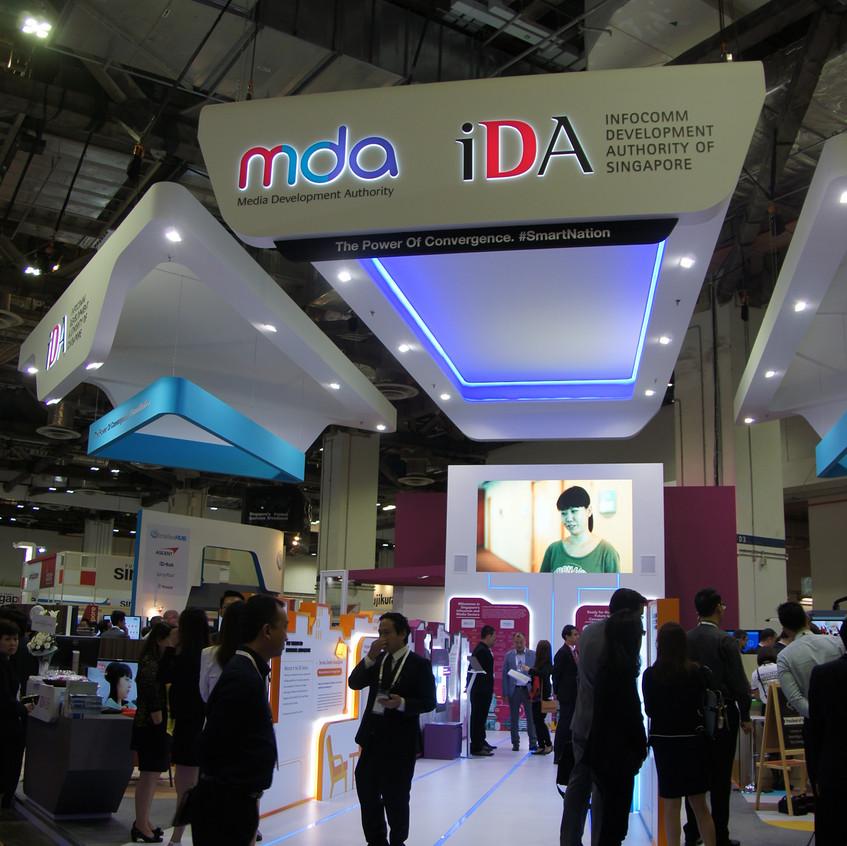 Setup at IDA Booth