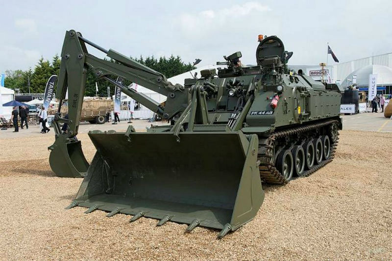 The Terrier armoured digger is the British Army's most advanced engineering vehicle. MoD Open Gov licence.