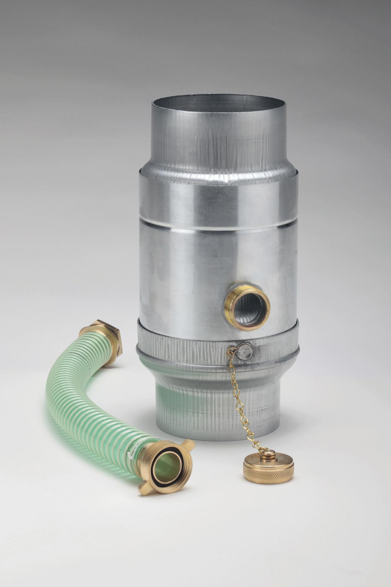 Wassersammler mit Schlauchanschluss