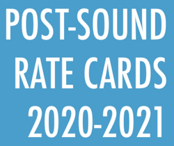 Post-Production Sound Rate Card