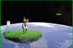 Tee départ satellite