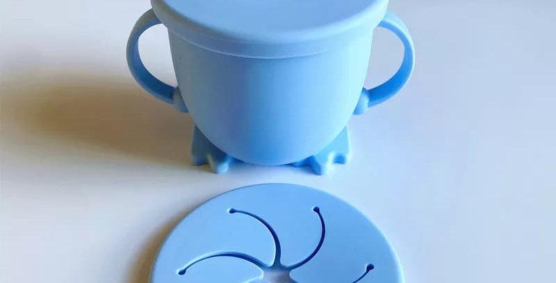 Cana albastra din silicon 2 in 1 -  pentru baut si gustare