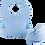 Thumbnail: Set diversificare  bol cu ventuza, tacam si bavetica din silicon, albastru