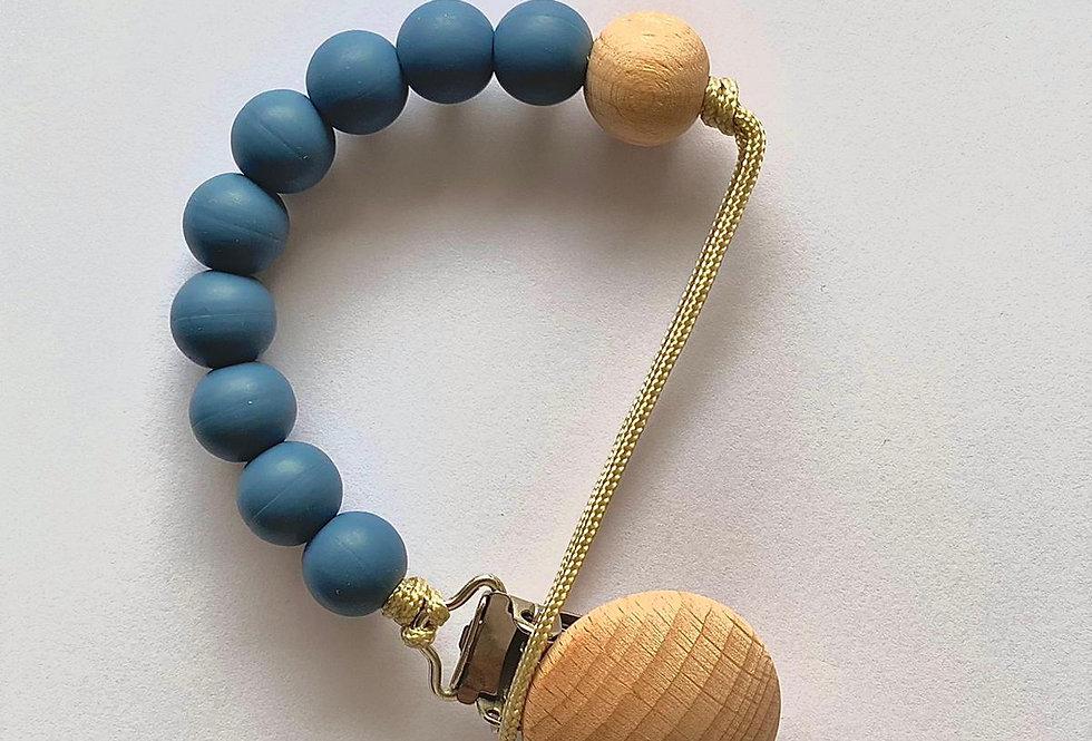 Lantisor cu clips pentru suzeta - blue