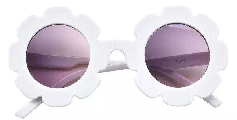 Ochelari de soare model floricica albi