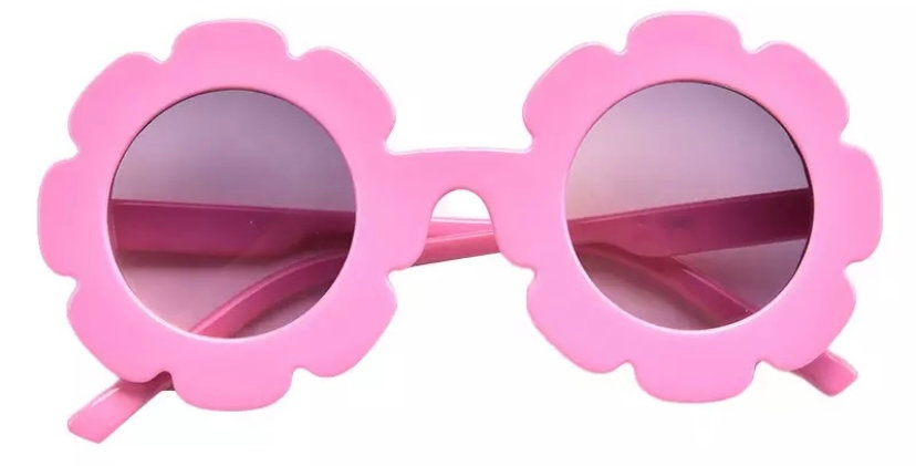 Ochelari de soare model floricica roz