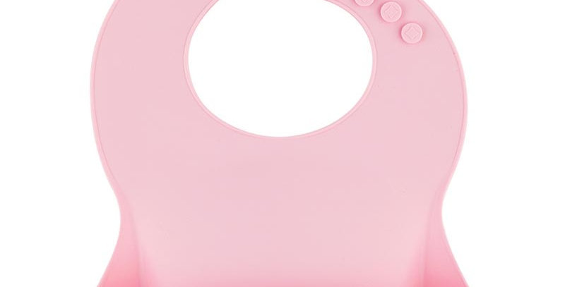 Bavetica din silicon moale  -pink