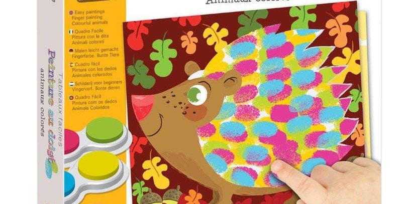 Pictez  cu degetele – animale colorate Créa Lign'