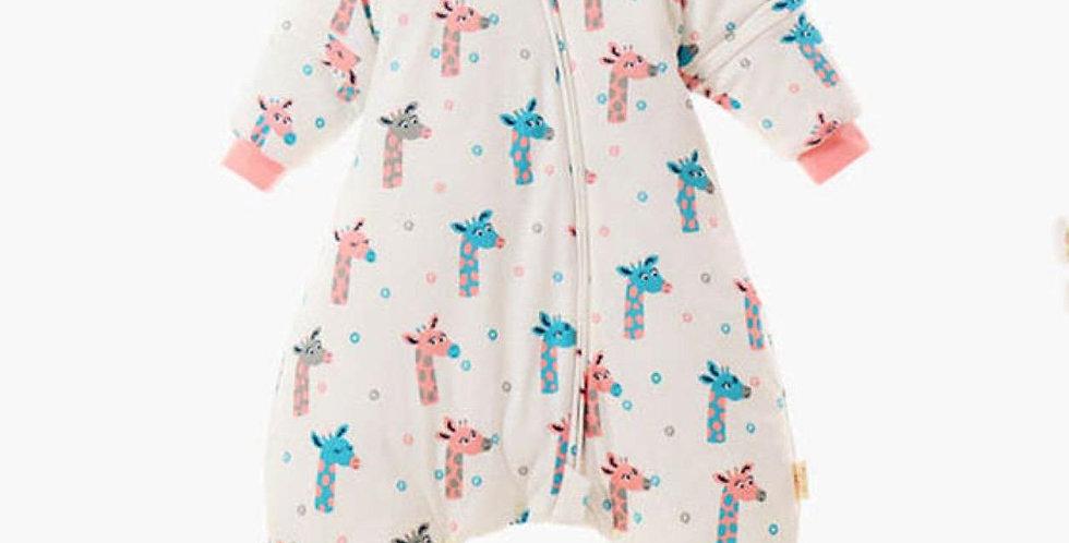 Sac de dormit cu picioare toamna - iarna  - girafe