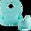 Thumbnail: Set diversificare  bol cu ventuza, tacam si bavetica din silicon, turcoaz