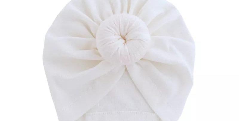 Turban din bumbac alb