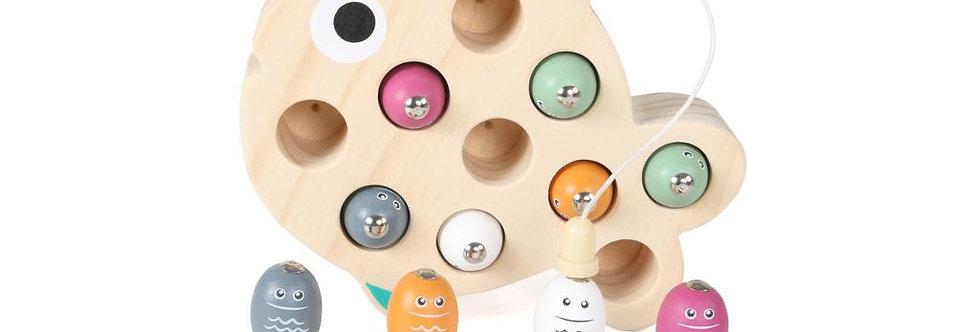 Joc de pescuit danez, magnetic, din lemn,  Magni Danish Toys