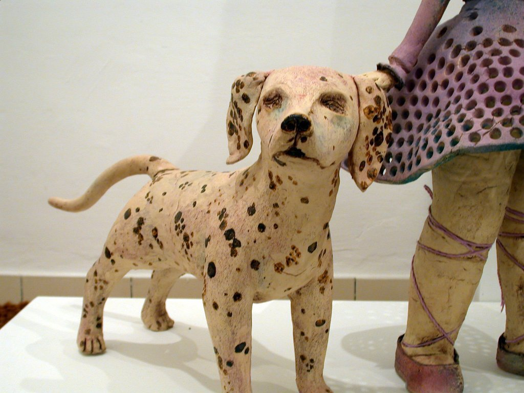 no4.Girl with A Dog (Pink)(Pink)Detail.jpg