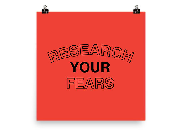 Research Your Fears (You'll Probably Feel Better)
