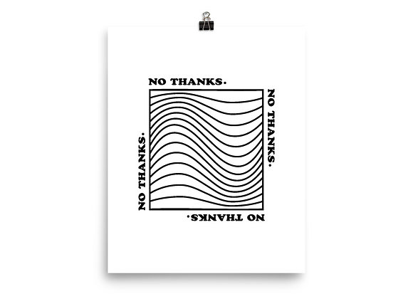 No Thanks - Black