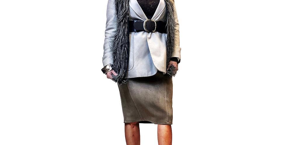 Faux Pheasant Fur Vest