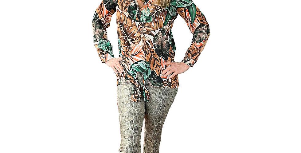 Jungle Batique Tie-Front Tunic
