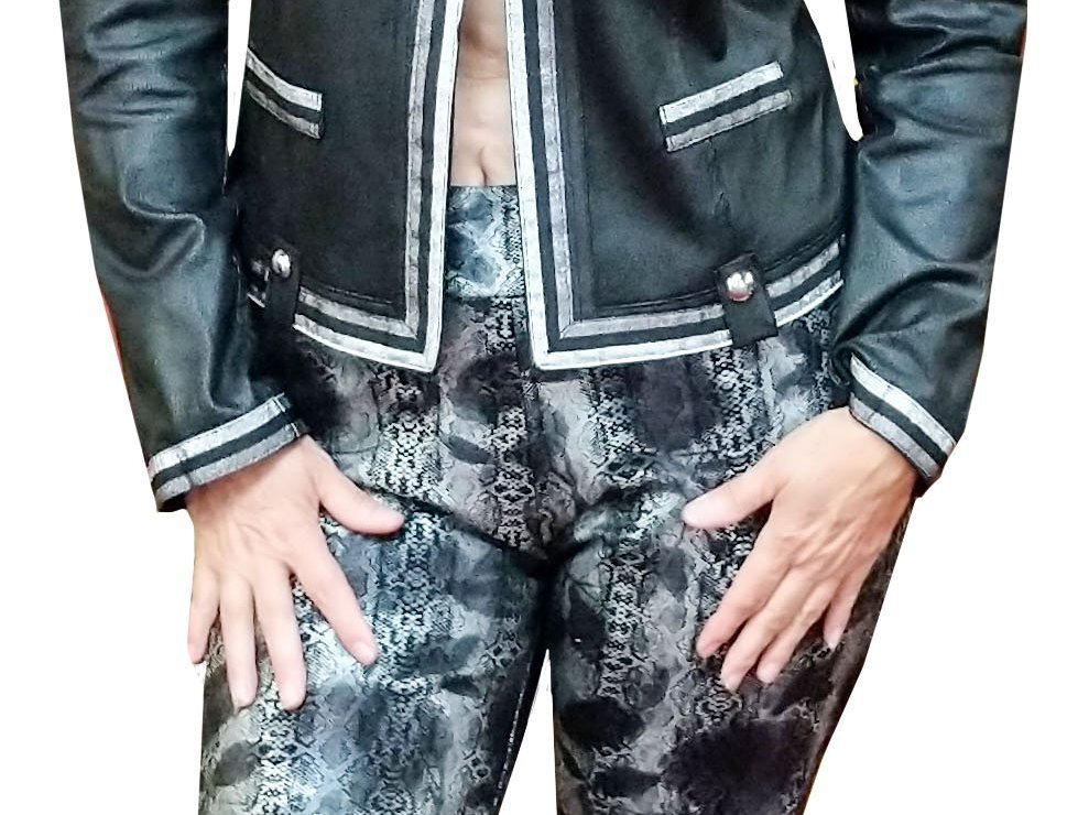 Black/Silver Montage Stretch Miracle Pant