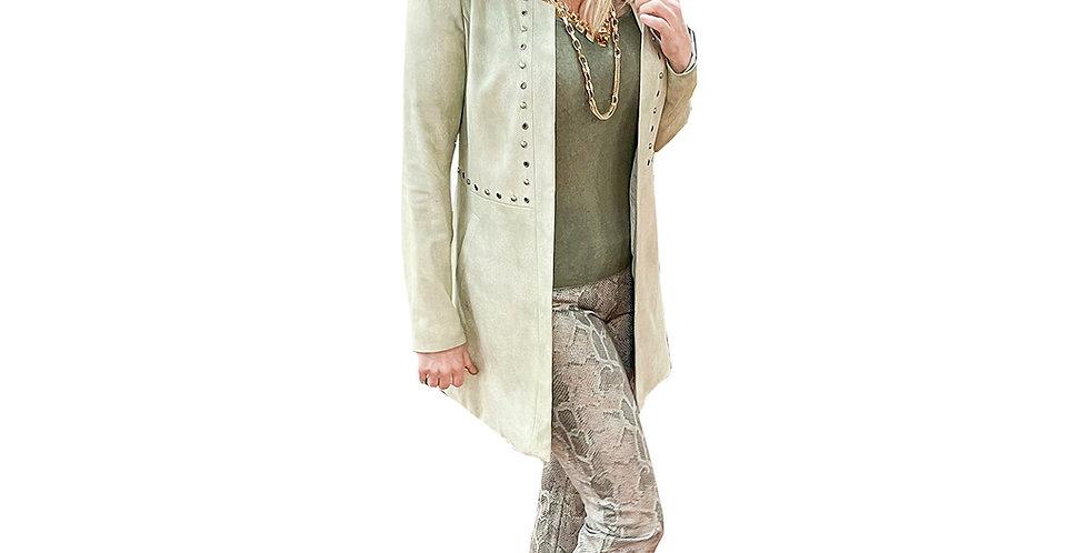 Custom Dyed Silver Stud Crombie Coat
