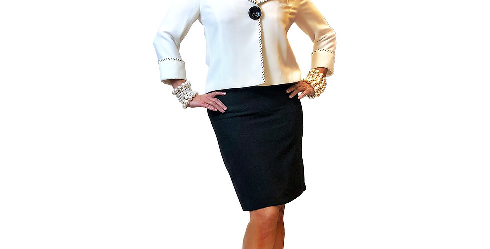 Techno Stretch Pull-On Pencil Skirt