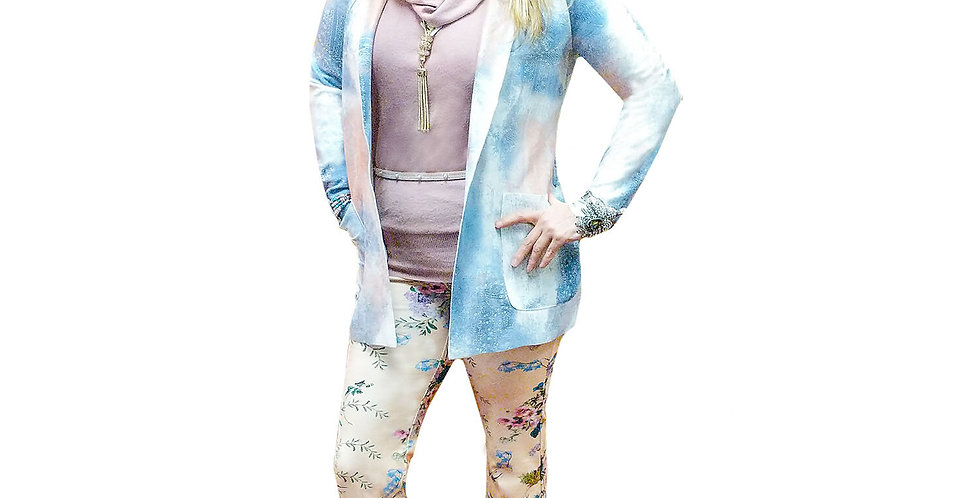 Powdered Pastel Floral Stretch Miracle Pant