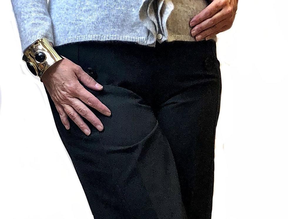 Parisian Wide Leg Crepe Trousers