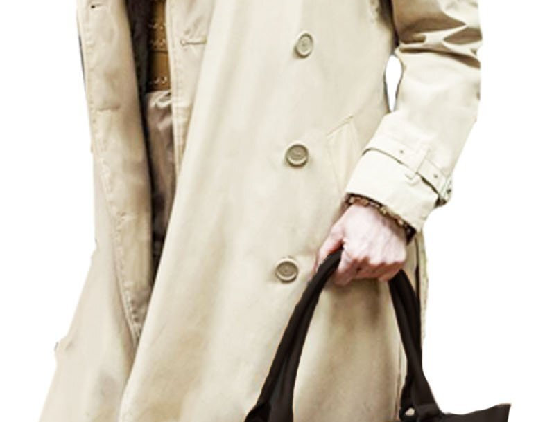 Iconic Cream Double Breasted Travel Trench