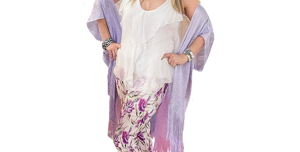 Lilac Shimmer Cocoon Shawl