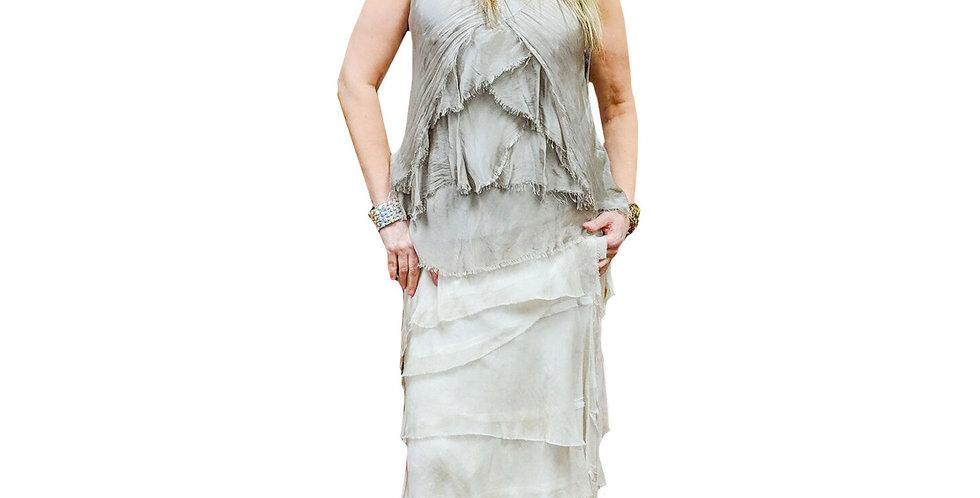 Italian Washable Silk Jersey-Lined Maxi Skirt