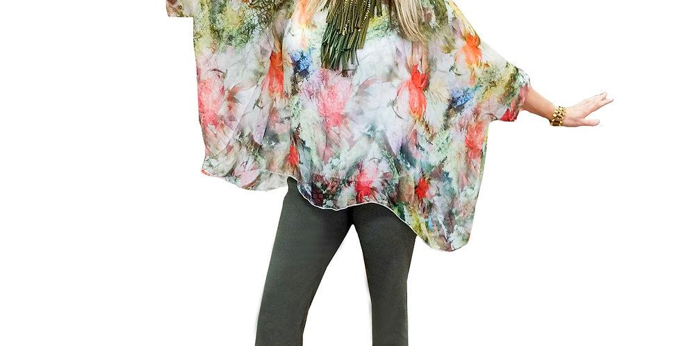 Italian Washable Silk Water Color Tunic