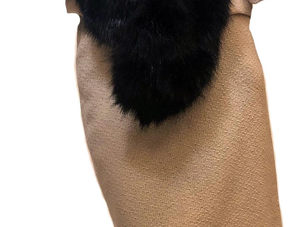 Mahogany Faux Fur Stole