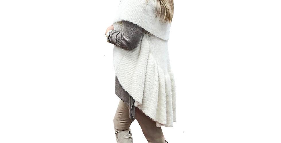 High-Low Peplum Sweater Vest