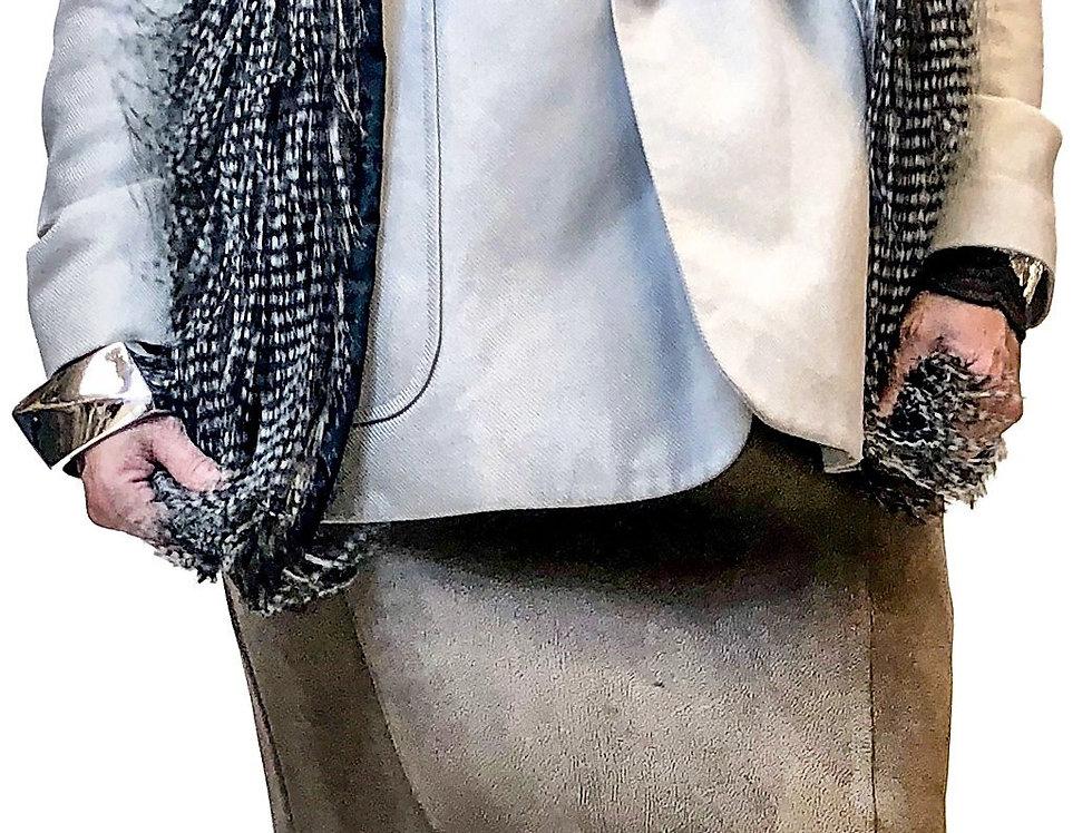 Textured Knit Pencil Skirt