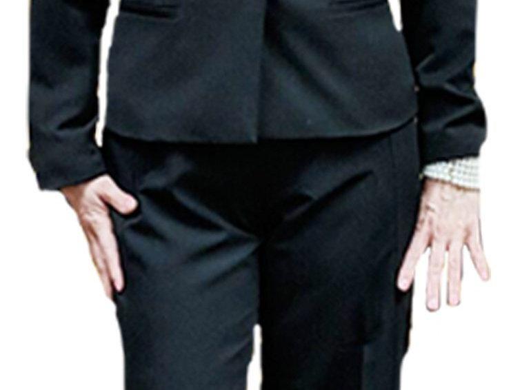 Black Zip Front Fluid Gaberdine Trouser