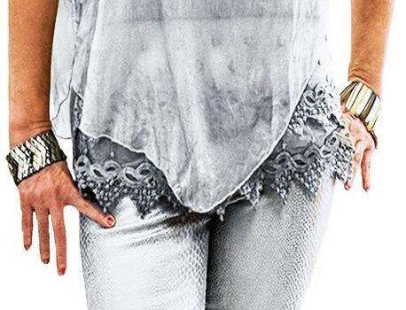 Light Pearl Grey Stretch Scuba Pant