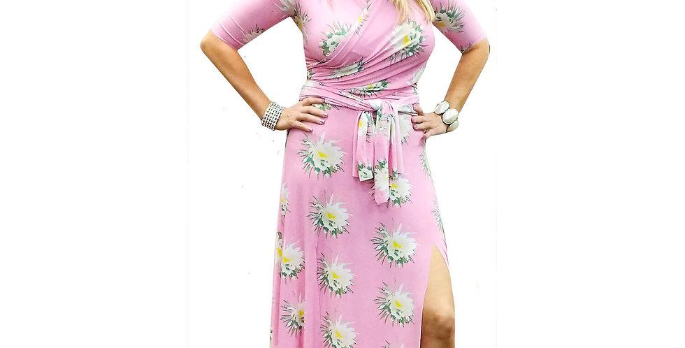 Jersey Stretchy Sleeveless Wrap Dress