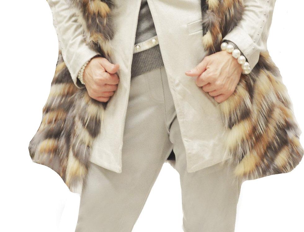 Feathered Fox Cap Sleeve Vest