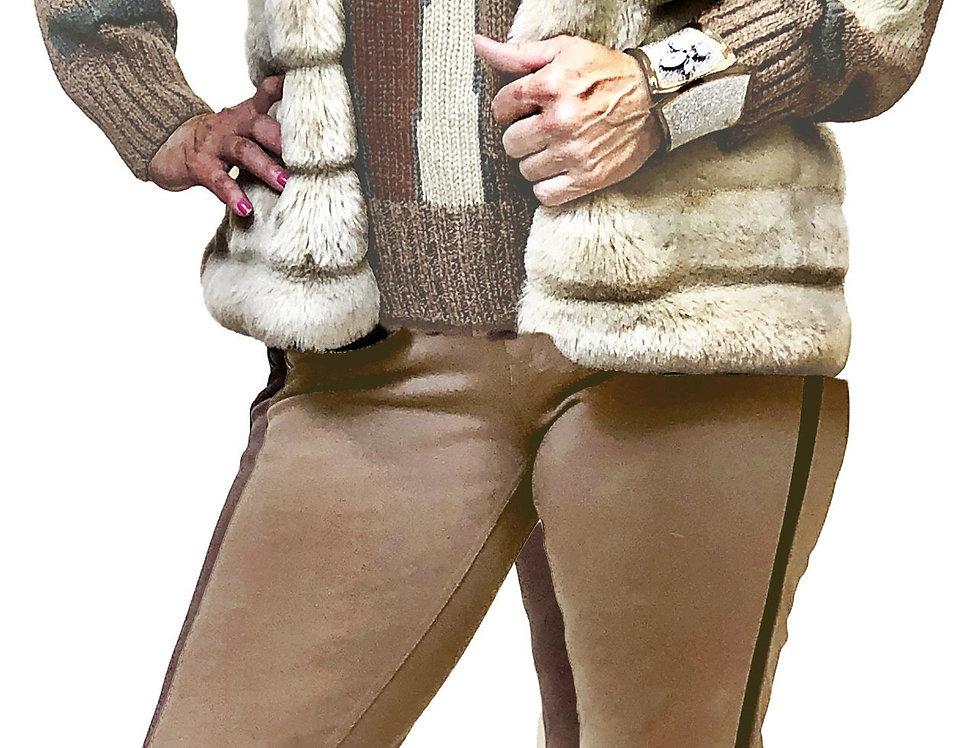 Champaign Beveled Crop Faux Fur Vest