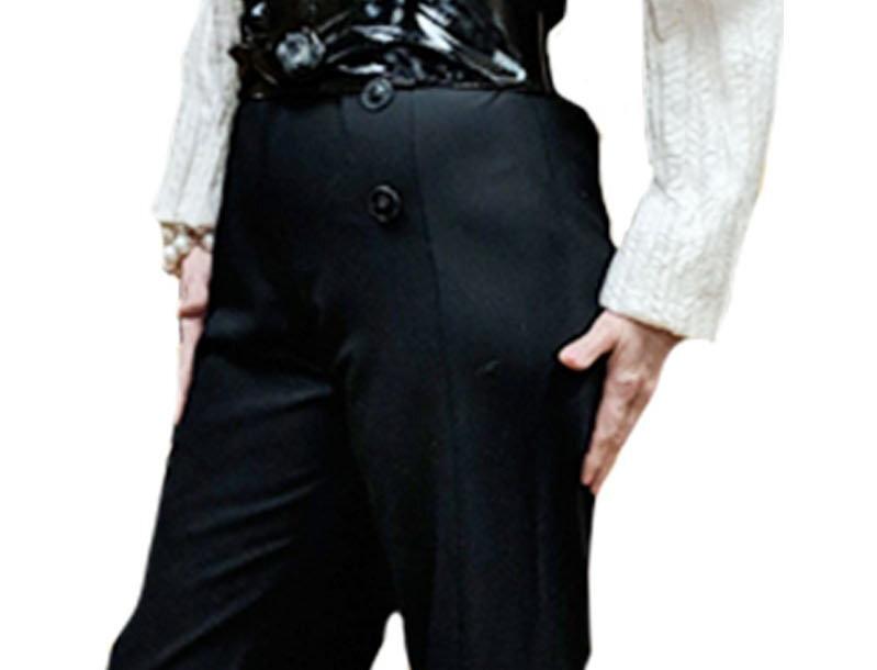 4 Button Sailor Front Crepe Fluid Leg Trouser