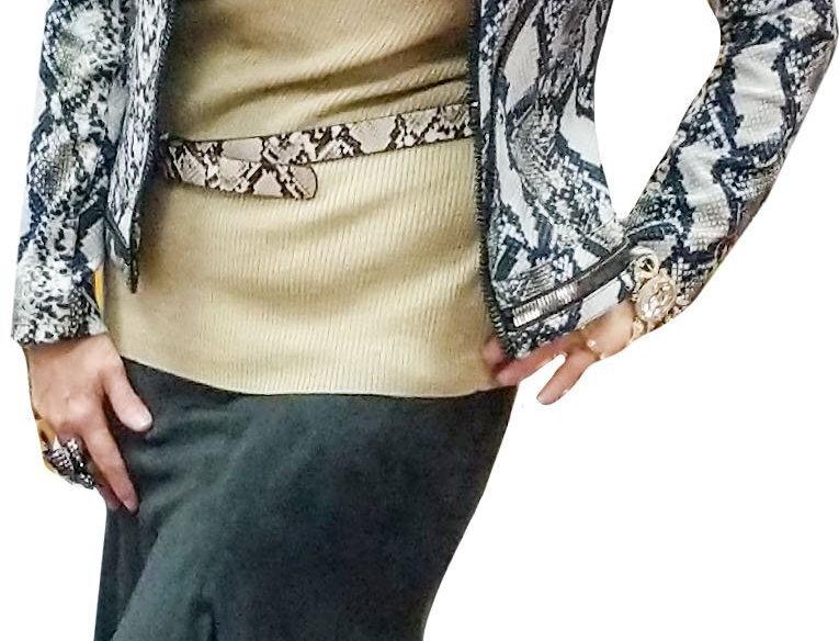Gold Lurex Cap Sleeve Cowl Neck Top