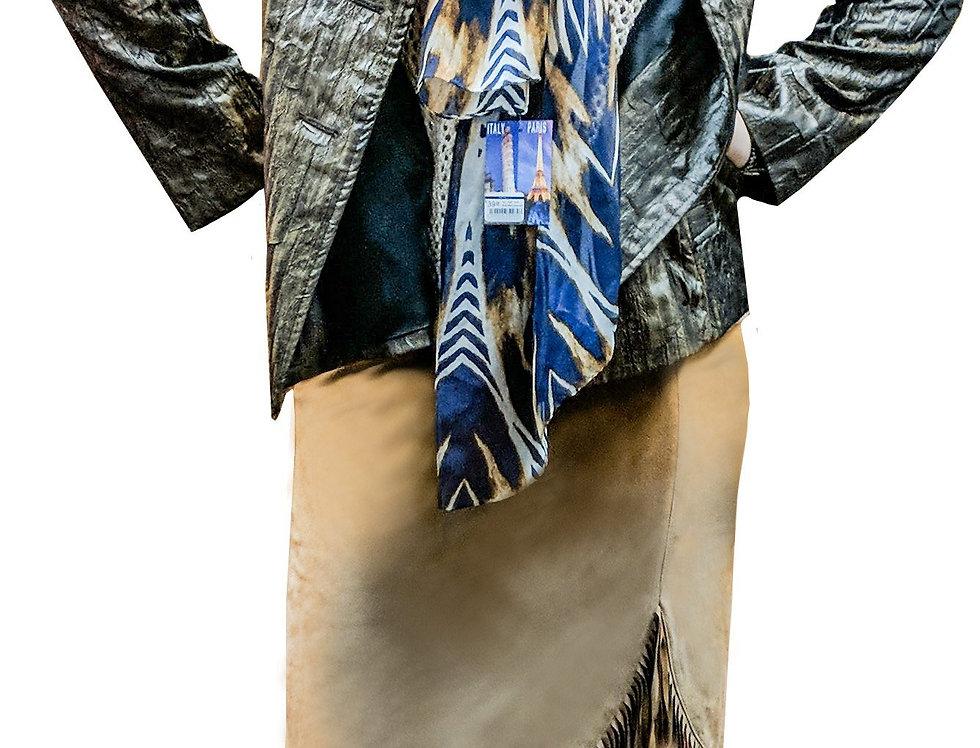 Crinkle Silk Cargo Jacket