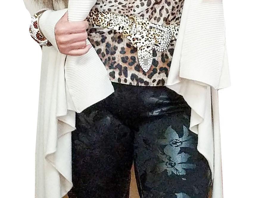 Stretch Mesh Leopard Cami