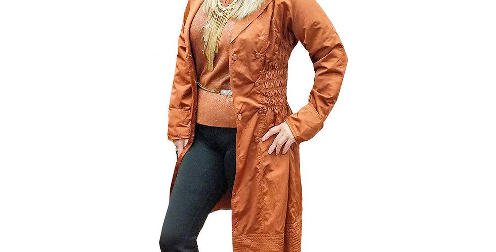 Ruched Waist Raincoat