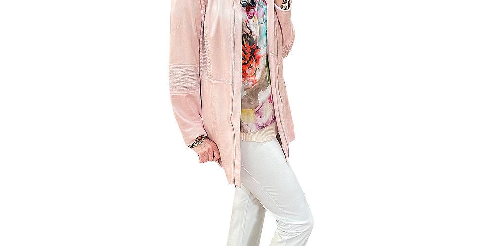 Parisian Rose Microsuede & Knit Crombie Jacket