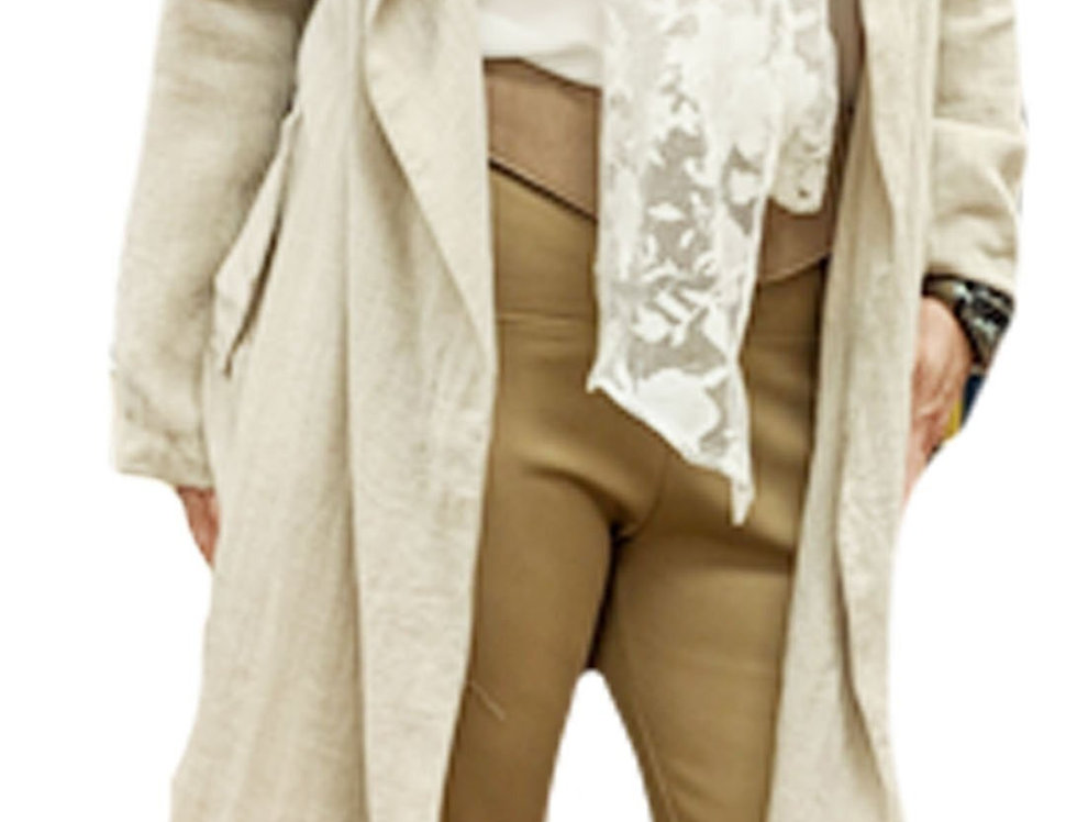 Wide Waistband Camel Stretch Pull on Leggings