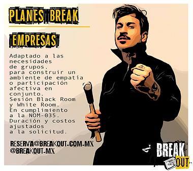 Planes para empresas y corporativos de breakout
