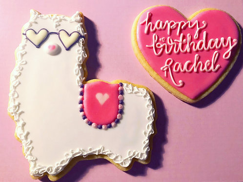 Llama Birthday Cookie Set