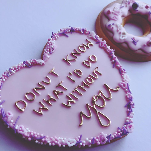 Donut Know What I'd Do Cookie Set