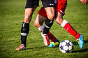 soccer players, foot and ankle shot
